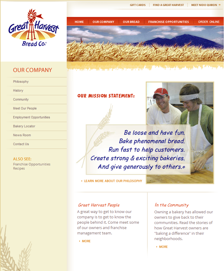 greatharvestcorp Franchise Web Design: Compliant Franchisee and Corporate Sites
